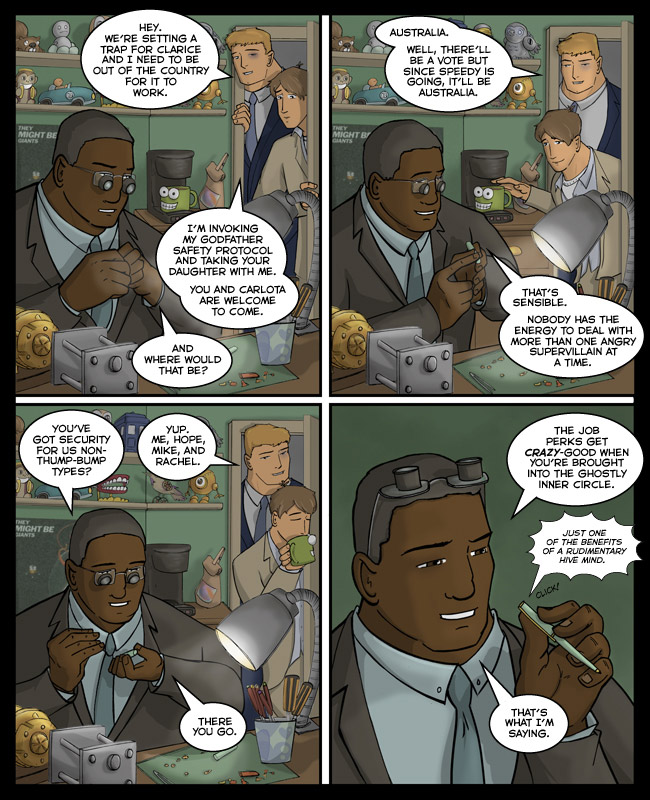 Comic for 23 April 2012: I hope you have enjoyed Mako's office because I am never drawing that background again, ever.