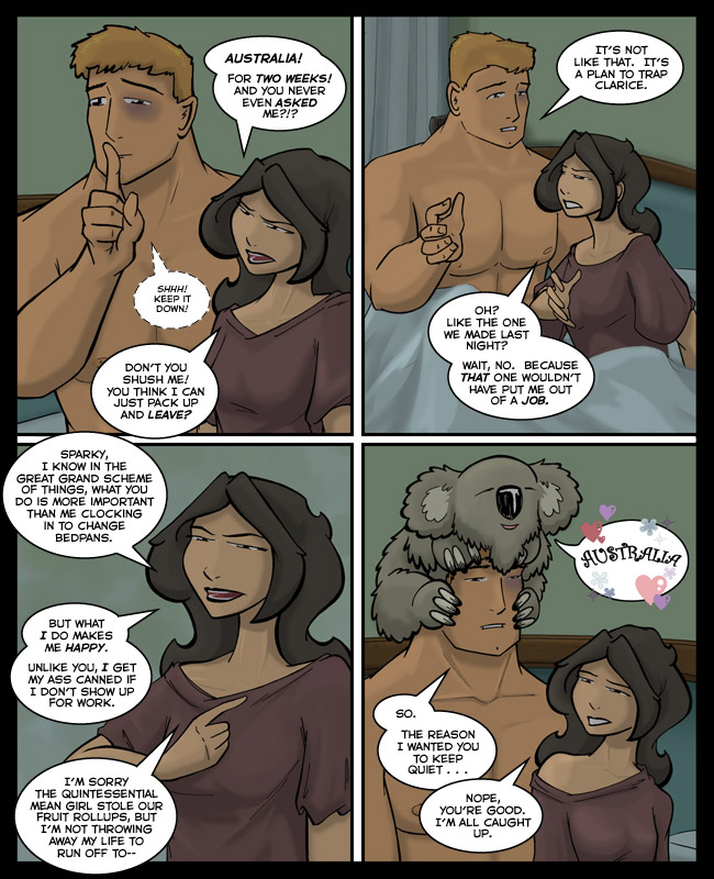 Comic for 28 May 2012: Shhh!  His nipple is talking.