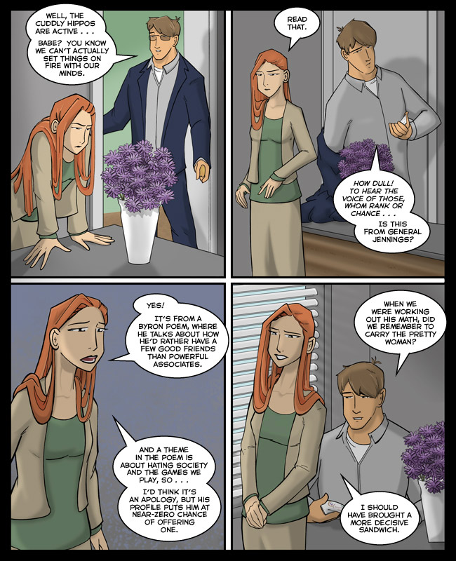 Comic for 01 November 2012: Besides, there's a federal law against men in uniform sending Romantic poetry.