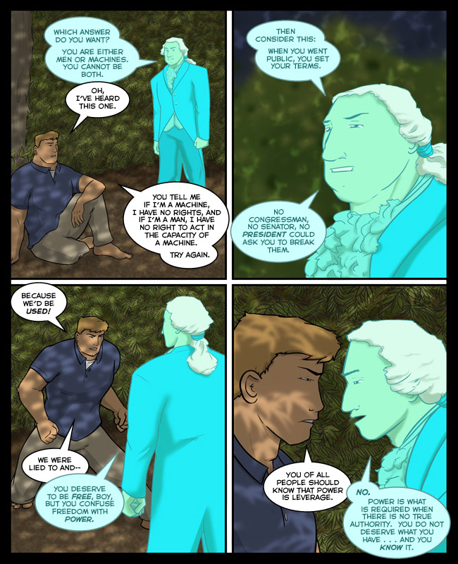 Comic for 28 January 2013: Washington must have been one charismatic fellow because his writing is drier than lint.