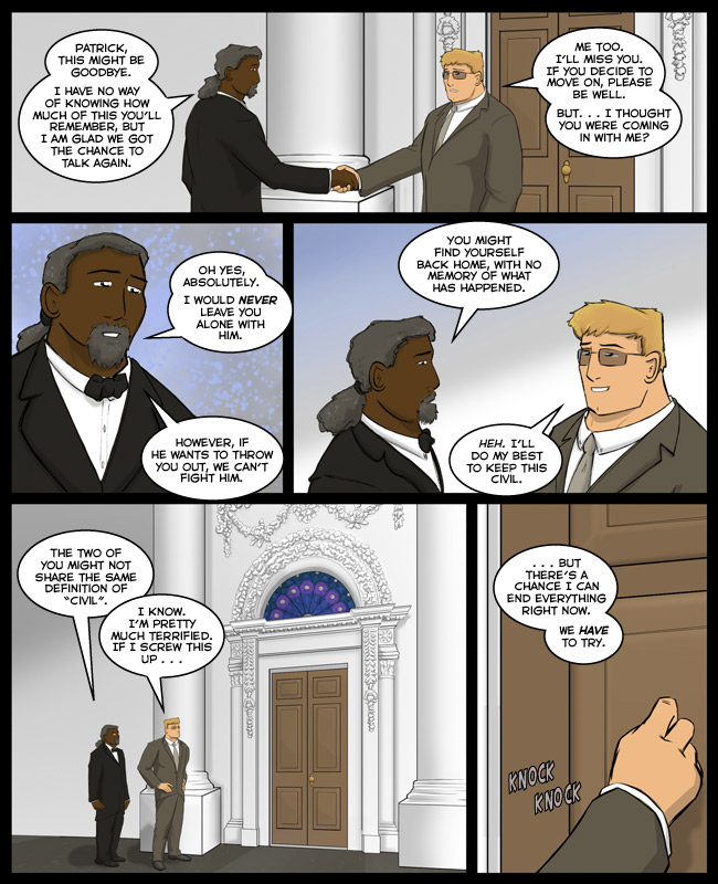 Comic for 25 July 2013: The Tiffany glass did predate Lincoln but he thought it was pretty. CANON.