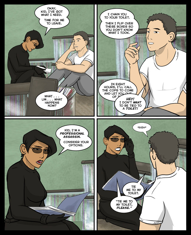 Comic for 07 February 2014: Ami is big into manners.