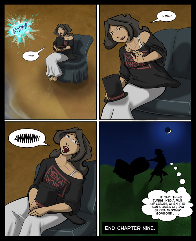 Comic for 20 October 2014: ... stupid magic Lincoln chair ...