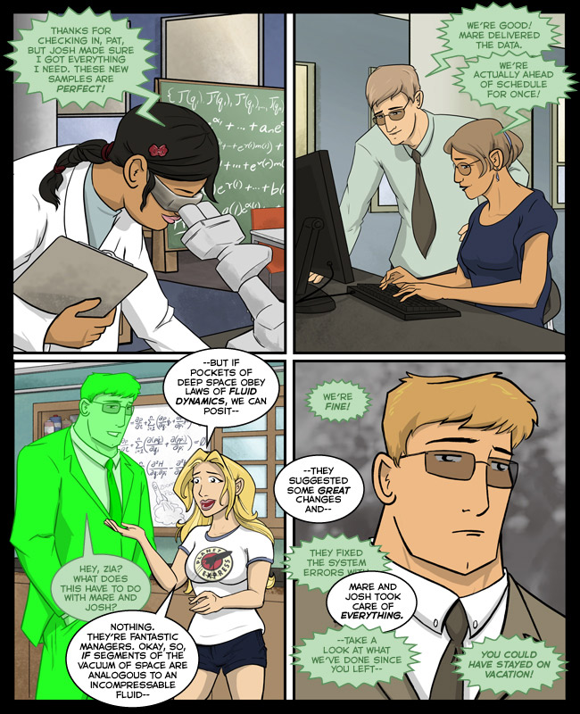 Comic for 29 December 2014: The first three Agents are Kickstarter backers. The fourth is Santino's wife.