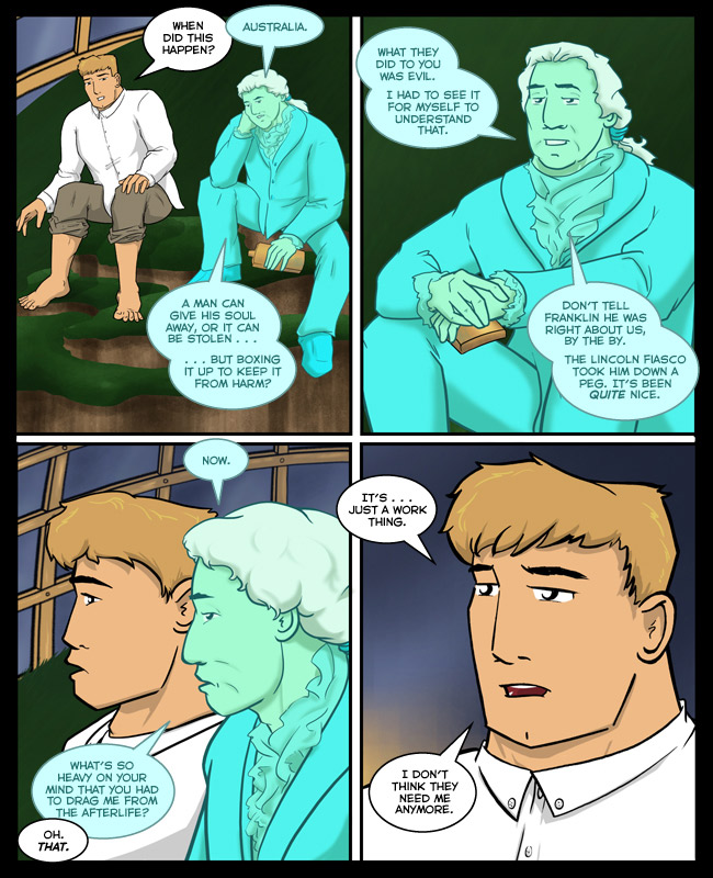 Comic for 28 January 2015: That second panel is as close as George gets to an apology.