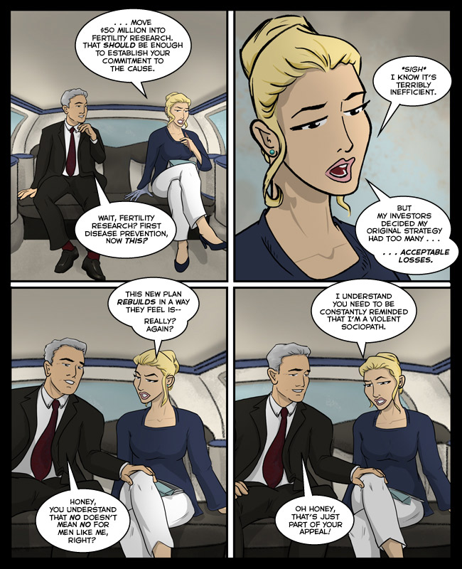 Comic for 12 November 2015: yay she's back and she's met her match yay