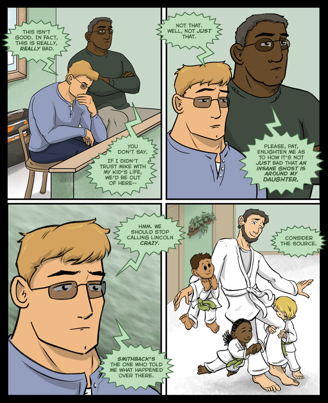 Comic for 22 February 2016: THAT IS NOT AIKIDO LINCOLN WHAT ARE YOU DOING?