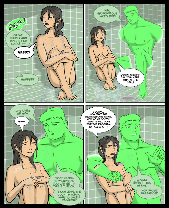 Comic for 28 October 2010: I LIKE DRAWING NAKED PEOPLE. AND CAPSLOCK. BUT MOSTLY NAKED PEOPLE.