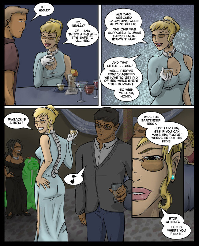 Comic for 31 March 2011: Carlota's avatar is Derprus, the Derp-walrus.  It weirds Pat the hell out.